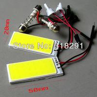 100pcs/lot free shipping Wholesale White 4W COB Chip LED Car Interior Light T10 Festoon Dome Adapter 12v, Car Vehicle LED Panel
