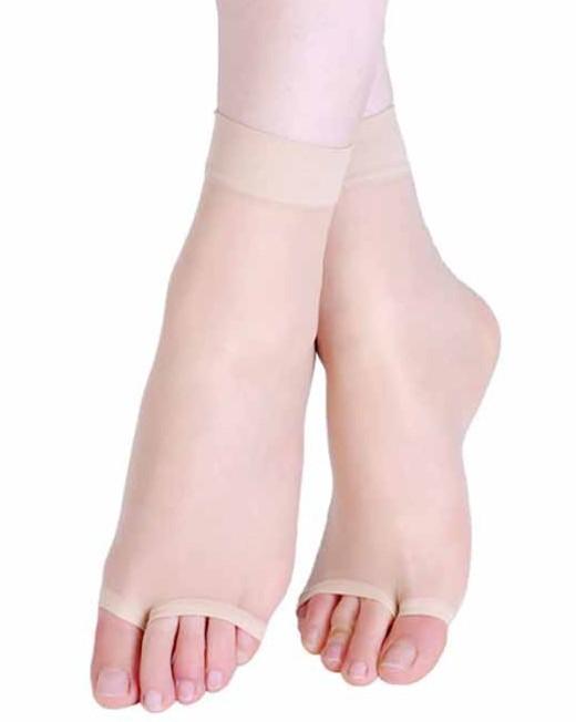 2015 New Women socks Summer nude Toe socks black nylon socks with pop sheer Thin Crystal Socks meias womens socks(China (Mainland))
