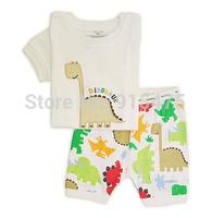 T0129 2015 New design 100% Cotton Children's pajamas , Baby short sleeve pajamas,Kids pyjamas boys girls sleepwear baby wear