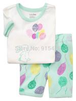 T022 2015 New design 100% Cotton Children's wear,Baby short sleeve pajamas,Kids pyjamas boys girls sleepwear set 6set/lot