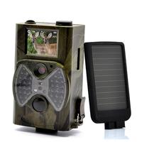 12MP 940NM Black IR night vision wildlife trail game camera hunting camera + Solar Battery Free Shipping