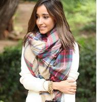 za women winter scarf female 2014 Desigual Plaid Scarf New Designer Unisex Acrylic Basic Shawls Women's Scarves