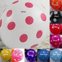 A1 A24 Free Shipping New Fashion 10pcs/lot Party Decoration Polka Dot Latex Balloon T1056 P