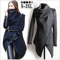 2014 Winter Coats Women Long Cashmere Overcoats Trench Desigual Down Jacket Designer Woman Wool Coats Fur Manteau Abrigos Mujer