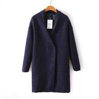 New Brand Designer Women Boutique Long Coats 2 Colors Long Sleeve V Neck Lady Slim Coats NAS3189