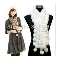 Genuine Rabbit Fur Scarf  Women Winter Scarves  Real Fur Scarves  BG70116