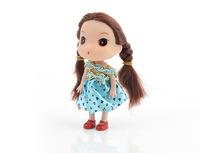 12pcs/set 12CM Mini ddgir Toys 2014 New  Doll Brinquedos Kids Dolls for Girls