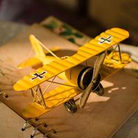 Biplane model vintage crafts for za kka home accessories decoration b0104