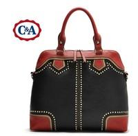 leather womens handbags ladies pu designer tote bags big rivet messenger bag vintage shoulder bags handbags women famous brands