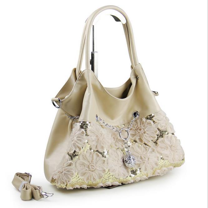 2015 flower lace women's handbag green shoulder bag messenger bag handbag (China (Mainland))
