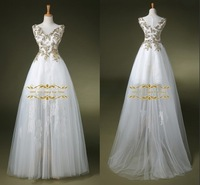 2015 New Design A-Line Wedding Dress with Sequins 2014 In Stock 100% Real Pictures Tuller Wedding Dress ZY4070