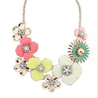 Charm Flower Vintage Choker Statement Necklaces & Pendants Fashion Jewelry Drop Shipping