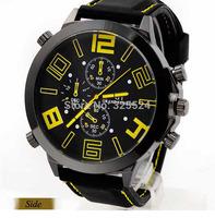 Fashion Men Watch Luxury Trendy Rubber Silicone Strap Watches Men Quartz Watch Men Sports Watches Wristwatches