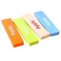 KOREA COLORED SCHOOL PENCIL CASE STATIONERY CUTE ESTUCHE ESCOLAR APPLE LETTER CANDY PLASTIC PEN BOX ESTOJO ESCOLAR 4.5 * 18CM