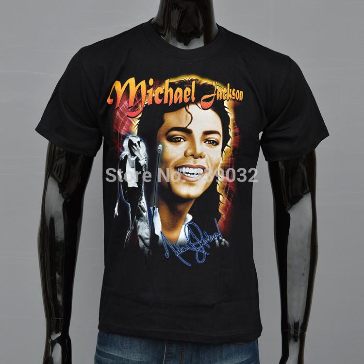 New summer Fashion Brand men's 3d T-shirt print King of Rock and Roll Michael Jackson cotton for men Boy Tshirt black XXL(China (Mainland))