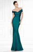 2015 New Design Elegant Prom Dress Mermaid V-Neck Off the Shoulder Short Sleeves Hign Quality Evening Dress zy1043