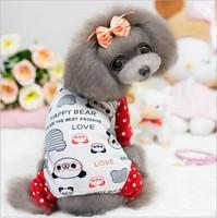 Pet Product Dog Cat Clothes Winter Panda Jumpsuit Super Soft Cotton Padded Coat for Dogs Clothes Pet Clothing 1pcs/lot