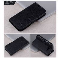 Phone Case Magnetic Skin Cover Flower Show Card Holder Silk PU Flip Leather Cover for Samsung galaxy Trend case i699 S7562i
