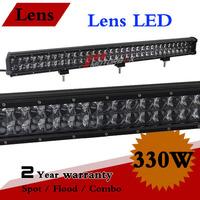 31 inch 330W Lens LED Light Bar 12V 24V IP67 Led Work light For Truck Off Road 4x4 ATV Adjustable Bracket Fog Light Seckill 300W