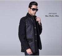 Wool woolen winter coat 2015 new fashion men Slim wool coat Korean casual wear business men coat jacket