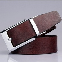 New Arrival !!2014 Fashion pin buckle men's belt black/coffee/yellow/orange Genuine Leather Antique pants belt
