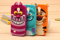 free shipping 1pcs 3D cartoon animal Monsters university silicone sulley tiger cases covers for Samsung galaxy S4 mini i9190