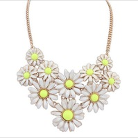 Gold Chain  Necklace Charm Sun Flower Choker Statement Necklaces&Pendants Fashion Jewelry For Women Dress Decoration