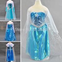 Retail Hot Frozen Dress Elsa & Anna Summer Dress For Girl 2014 New Princess Dresses Brand Girls Dress Children Clothing m04