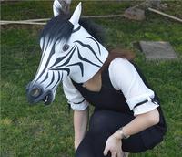 masquerade venetian mask latex Zebra Head Horse Mask Full face Halloween carnival masks