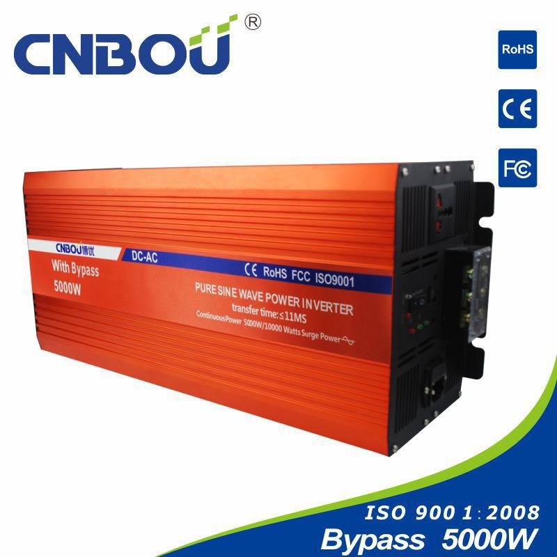 24V 110V 50HZ 5000W dc to ac inverter with bypass(China (Mainland))