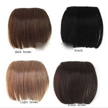 2015 Brand 1 Pcs Fashion New Clip on Front Neat Bang For Women Synthetic Hair Fringe Bangs