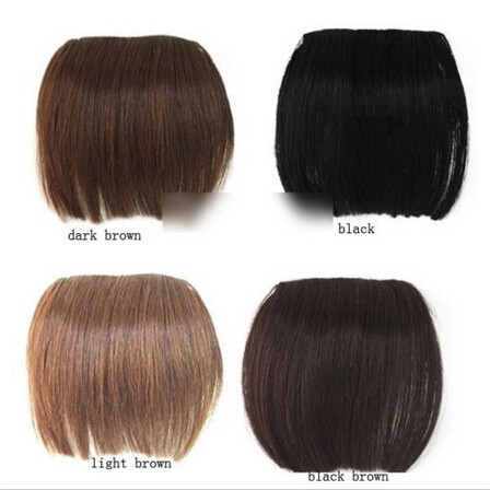 2015 Brand 1 Pcs Fashion New Clip on Front Neat Bang For Women Synthetic Hair Fringe Bangs(China (Mainland))