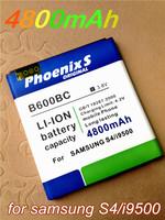 2015 Phoenixs 4800mAh B600BC/BE Battery Use for Samsung Galaxy S4 i9500 i9502 i9505 i9508 i959 etc Phone battery free shpping