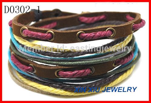 Wholesale Cheap Wrap Handmade Leather Bracelet(China (Mainland))