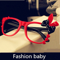 2014 New S134 fashion baby lasses flower decoration plastic material boys and girls frame glasses wholesale and retail 5PC
