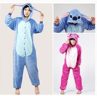 Casual Flannel Hooded Pajamas Cosplay Cartoon Cute Animal Onesies Sleepwear Suit Nightclothes