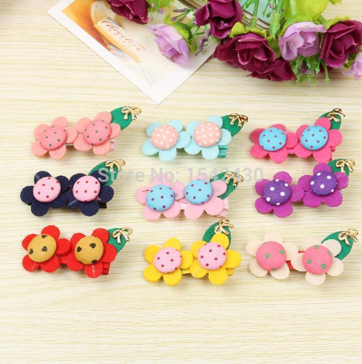 Children's hair accessories cute flower headdress hair accessories baby hair clips duckbill clips(China (Mainland))