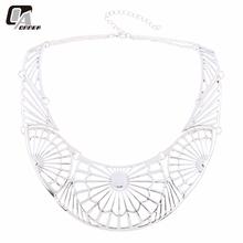 Ethnic collar necklace Tibetan silver imitation Turkish traditional jewelry style minority neclace mandala supernatural jewelery