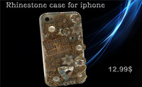 New 2014 PC Bling Diamond Rhinestone Crystal Case Cover for Apple iphone 4 4S 5S 5 5C Hard Back Case Protective Shell