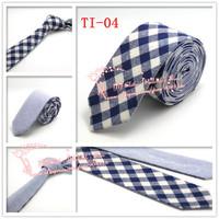 Drop shipping,2015 Brand New,Mens Plaid check double wear Cotton gravata Skinny Neck Ties,Men Navy Beige corbatas necktie,TI04