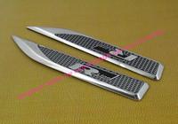 2pcs car blade R line for Jetta Passat TOUAREG side wing Fender Emblem Badge Sticker