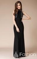 fashionable vestido de festa longo keyhole back sexy long evening dresses 2014 prom dress LF17