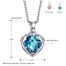 Neoglory 2 Colors Auden Rhinestone Heart Love Necklaces Pendants For Women New 2015 Romantic Jewelry Accessories