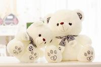 free shipping 50cm scarf teddy bear plush toy lovely bear doll  birthday gift b5989