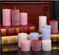 Smokeless candle light no tears and tasteless round candles romantic valentine's day gift marriage decoration propose used