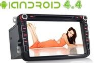 Latest Android 4.4 Car PC DVD GPS for VW PASSAT JETTA SKODA SEAT TIGUAN TOURAN HD Capacitive Screen Volkswagen Radio 3G Wifi