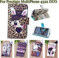 Luxury Cell Phone Accessories print cartoon Case flip pu leather case for Prestigio MultiPhone 4322 DUO ,gift