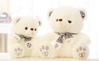 large 60cm scarf teddy bear plush toy lovely bear , throw pillow ,birthday gift b5996