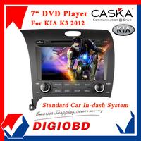 "CASKA 7"" Car DVD Player For KIA K3 2012 GPS Navigation In-dash System with Bluetooth Wifi 3G USB Free Maps Update CA173-KR7"