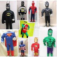 Boys Superhero Cosplay Costumes Kid Spiderman Superman Iron man Captain America Steve Rogers Hulk Costumes Muscle Clothes HY-538